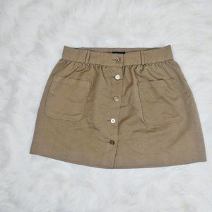 Tommy Hilfiger Button Down Skirt Brown